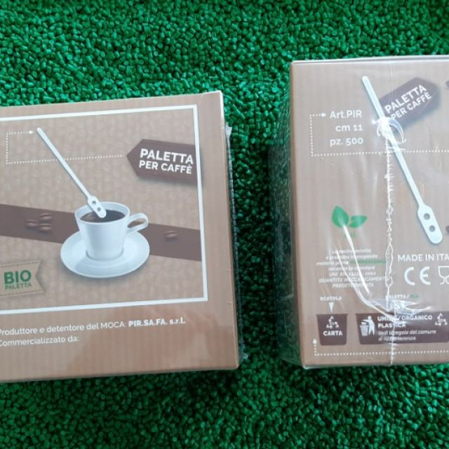 BIO COFFEE STIRRER OR CAPPUCCINO OF 11 CM, IN A HYGIENIC CARDBOARD CONTAINER.